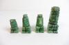 Lot de 4 petites statuettes Incas en malachite