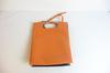 Delpozo sac cabas cuir orange et vert vernis