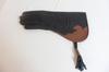 Gant Aigle en cuir mi-souple 40 cm de couleur noir de Mike Falconry