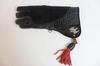 Gant Aigle en cuir mi- souple 36 cm de couleur noir de Pirrotta Falconry.