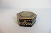 Boite à bijoux en bois Espagne marqueterie Vintage laque incrusté