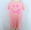 T-shirt long de nuit rose UNDIZ smiley - Taille S