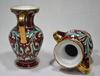 Paire de Petites Amphores en Céramique – Décor Main