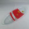 Coupelle ovale en verre années 60