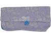 Pochette à fond plat tissu bleue pastel