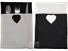Porte Couverts Duo en tissu Noir et Blanc