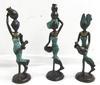 Lot de 3 Petites Statuettes de femmes en bronze