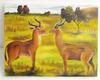 Tableau antilopes artisanal