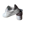 Sneakers Victoria - Cuir blanc - Paillettes roses - T36