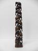 Sculpture en bois d'éléphants superposés - 40 cm