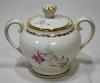 Sucrier Vintage en Porcelaine avec Couvercle – Tamponné « L.F. Véritable Porcelaine »