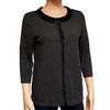 Top chemise Cyrillus T S en maille grise col perles rocaille - Photo 0