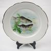 Lot de 11 assiettes plates Digoin Sarreguemines décor poisson - Photo 4