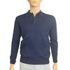 Polo vintage neuf Marigny T M / L Pull en maille fine bleu marine  - Photo 1