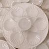 Lot de 10  assiettes en barbotine blanche motif coquille Saint-Jacques + 1 gratuite - Longchamp  - Photo 1