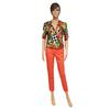 Top style veste blazer femme vintage motif tropical T.1 - Photo 4
