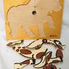 Lot de 5 puzzles en bois animaux ancien. Rolf. - Photo 3