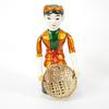Lot de 3 figurines en bois chinois  - Photo 2