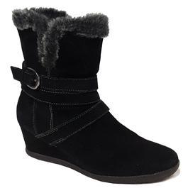 8b313cd5099 Boots bottines Geox P 38 Chaussure montante fourrée en daim noir - Photo 0  ...