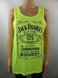JACK DANIEL S t shirt femme jaune fluo - T42 ( ref.a160 ) - Photo ... 2db7c84d952b
