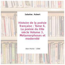 Histoire De La Poesie Francaise Volume 2 La Poésie Du
