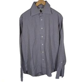 c5e86e9773e ... Chemise Balmain à carreaux bleue marron T43 100% coton - Photo 1