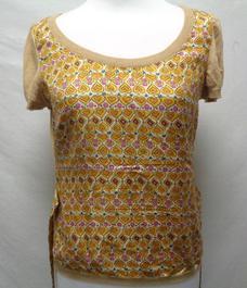 8a33c653bcc T-shirt en soie et coton - Moschino - taille 40 - Photo 0 ...