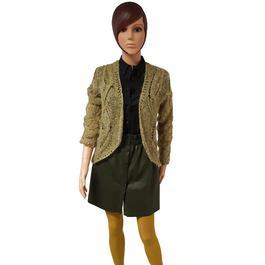 db576624bb368 ... Neuf   étiquette Gilet cardigan veste Vero Moda en maille mohair verteT  M - Photo 1