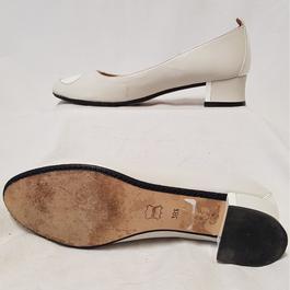 ... Chaussure ballerine Robert Clergerie en cuir blanc cassé vernis et mat  P 38,5 - dfd0b376d67