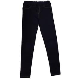 b9b1d8872abec Pantalon tregging Okaïdi pour fille 12 ans denim bleu foncé - Photo ...