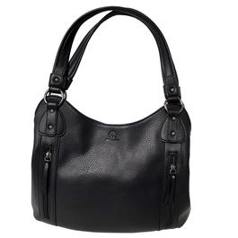 17169ba832510 Grand sac à main Sylvain Lefebvre en simili cuir grainé noir - Photo 0 ...
