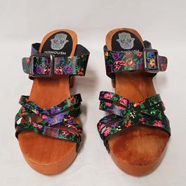 cd7f89e298d1e4 ... Chaussure sabot sandale mule Manoush & Monoprix P 36 cuir Talon bois -  Photo 1