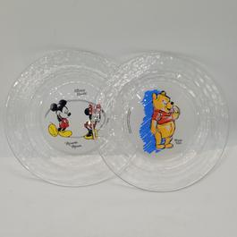 Lot de deux petites assiettes Disney Mickey-Minnie et Winnie - Photo 0