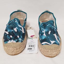 6171b8c3ec47e ... Neuf   étiquette Espadrilles chaussures Monoprix P 40 en toile imprimée  - Photo 1