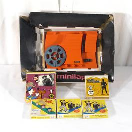 """Projecteur Jouet gravé, 8 mm """"Minilap"""", Lapierre + 5 films - Image 1"""