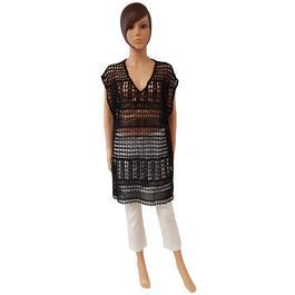 03700248bde Neuf   étiquette robe tunique sur maillot Monoprix T L façon crochet noir -  Photo ...