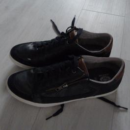chaussures GEOX Homme Noires RAVEX Taille 44 Label Emmaüs