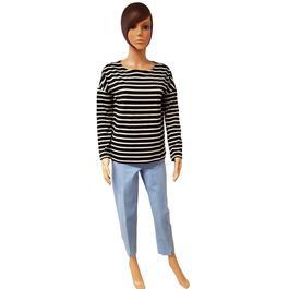 97fb3981811 Neuf   étiquette Marinière Tee shirt Monoprix rayures blanches et noires T  1 - Photo 0 ...