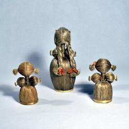 a413b3e8b4 ... Famille de poupées - Paille et Bois - Europe Centrale - Photo 1