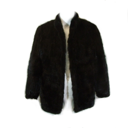 Manteau Véritable fourrure FOURRURE DE MARSEILLE marron très foncé taille  approximative M - Photo 0 ... 8efc25d82a1