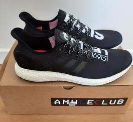 Baskets sneakers Adidas Neo cuir noir homme P.48 Label Emmaüs