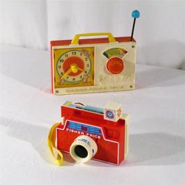 Lot de 2 jouettes, jouets Fisher Price des années 70.  - Image 0