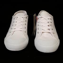 b6a5877dbc ... Neuves & étiquettes Chaussures Sneakers Baskets Monoprix P 44 en toile  blanche - Photo 1