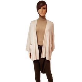 ... Neuf   étiquette veste gilet cardigan Zara Knit en maille écrue T S -  Photo 1 1a307cb51f4