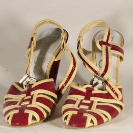 Sandales à talon PacoGil bordeaux et beige vernies et de taille 39 - Photo  0 ... 0c38806ff0d9