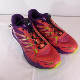 new arrive 486cb c3cab ... Chaussures running femme neuves Salomon X Scream 3D Violet-Rose taille  36 - Photo 1