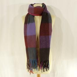 e4d9c8ef63ac Étole multicolore à carreaux en laine - Photo 0 ...