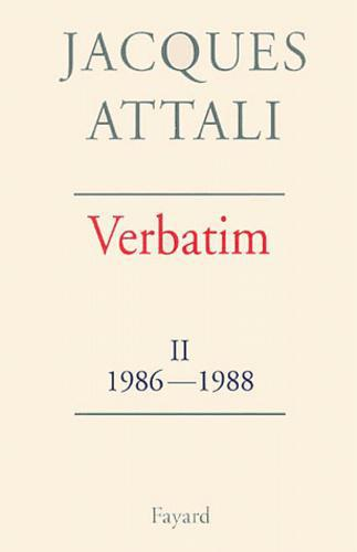 Verbatim. Tome 2, 1986-1988 - Photo 0