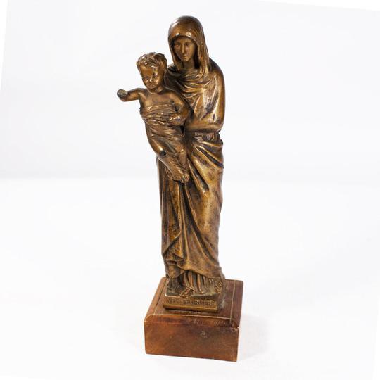 JésusEn Métal Statuette De Coloré Et L'enfant Marie La Vierge qpGVSzMU