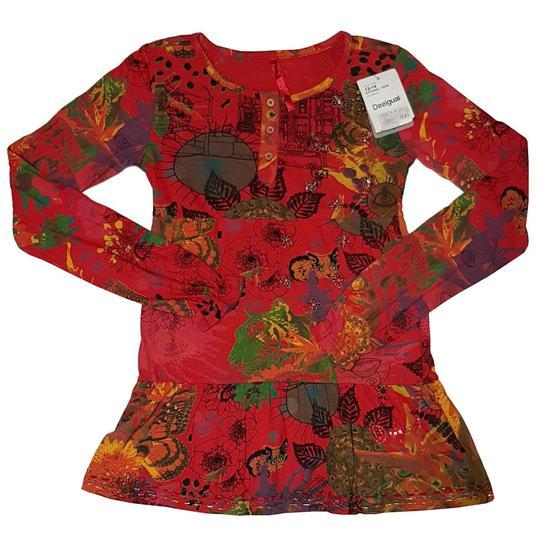 81cb114bb43e8 Neuf   étiquette tee-shirt tunique Desigual fille Taille 13 14 ans - Photo  ...